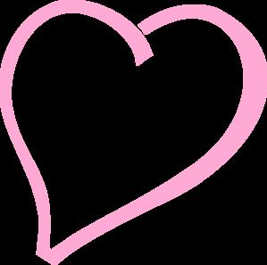 299x297 Single Pink Heart Clip Art