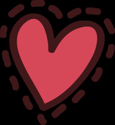 370x400 Cute Heart Clipart