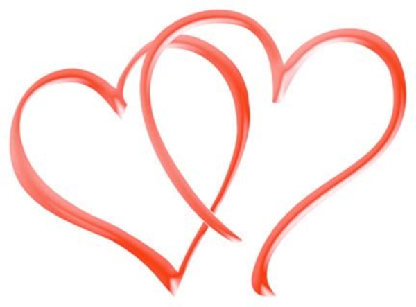600x443 Double Heart Clip Art Many Interesting Cliparts