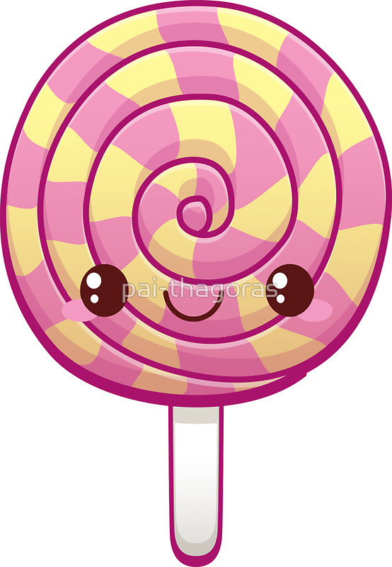 554x800 Kawaii Pink Lollipop Stickers by pai thagoras Redbubble