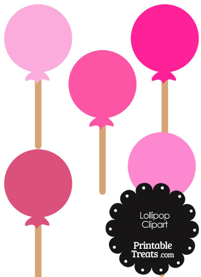 400x550 Lollipop Clipart In Shades Of Pink Printable