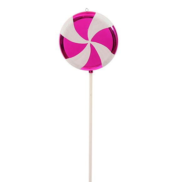580x580 Pink Swirl Plastic Candy Lollipop