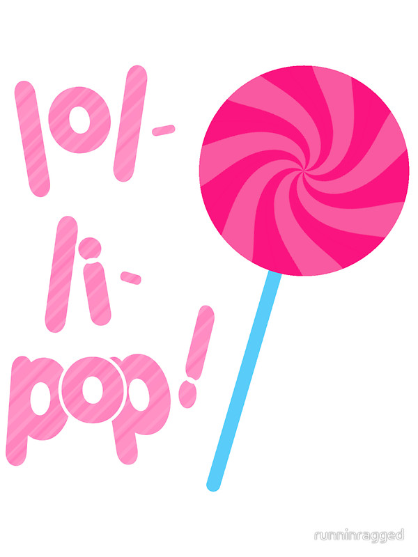 600x800 Pink and Blue Lollipop Stickers by runninragged Redbubble