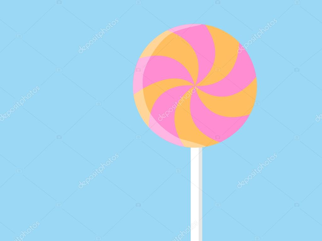 1024x768 Yellow And Pink Spiral Candy. Strawberry And Banana Lollipop