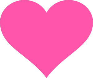 300x252 Hot Pink Heart Clip Art