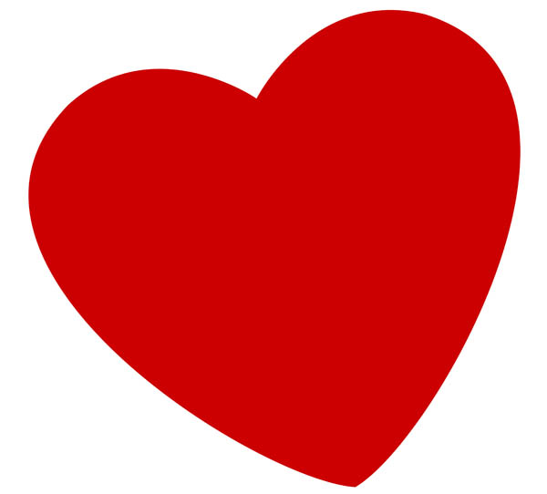 600x542 Love Heart Clip Art Clipart
