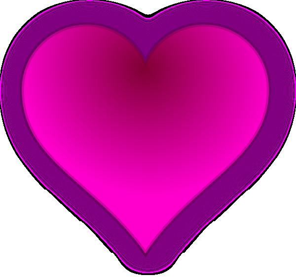 600x563 Pink Heart Clip Art