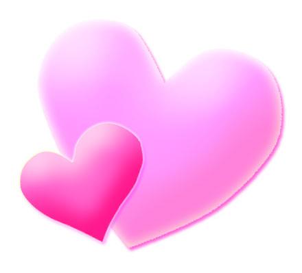 440x399 Pink Heart Clipart