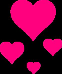 249x299 Pink Hearts Clip Art