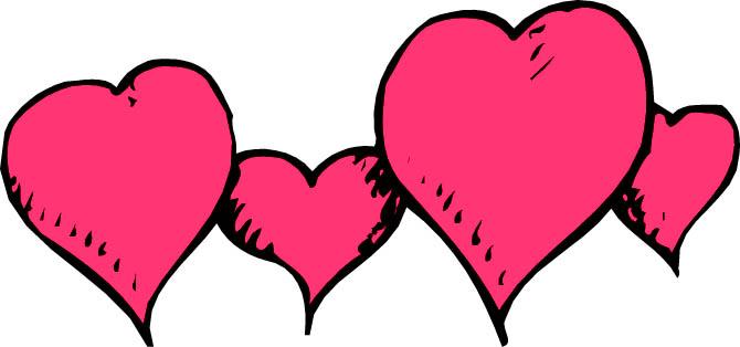 670x314 Pink Love Heart