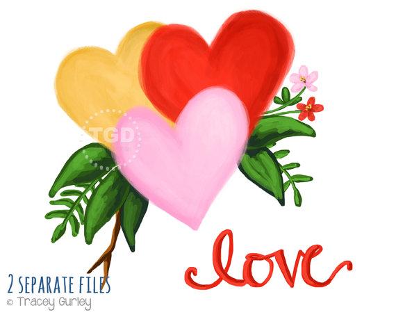 570x456 Watercolor Valentine Clipart Valentine Clip Art Heart