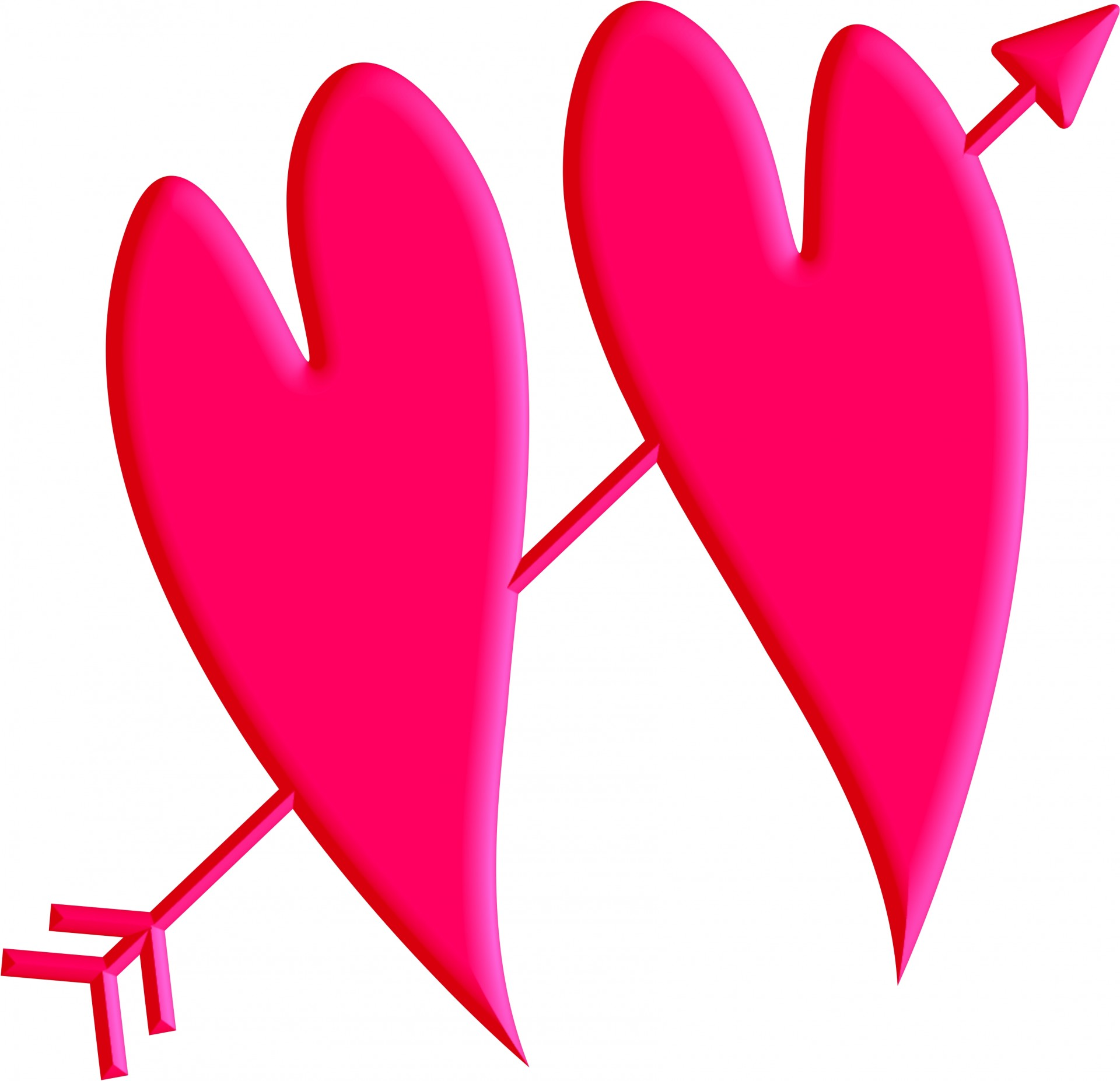 1920x1854 Arrow Hearts Clip Art Free Stock Photo