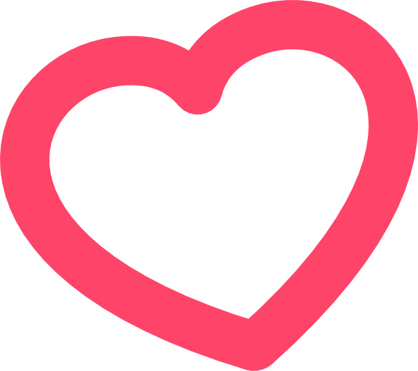600x533 Cute Heart Clipart