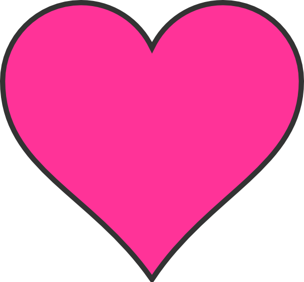 600x556 Dark Pink Heart Clip Art