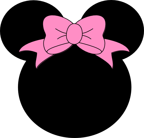 600x576 Pink Bow Minnie Mouse Clip Art