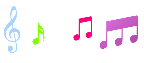 547x238 Graphics For Pink Music Symbols Graphics