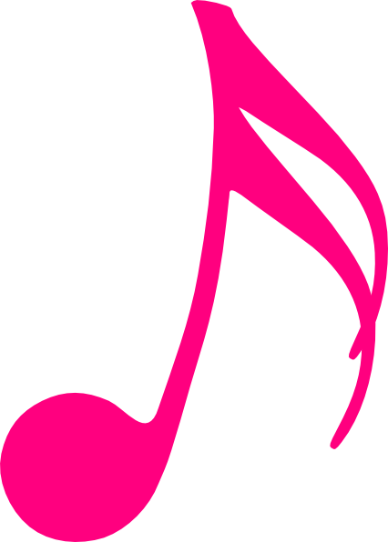 426x596 Music Note Pink Clip Art