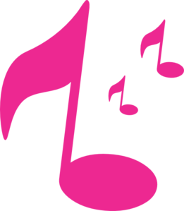 261x299 Music Notes clipart pink