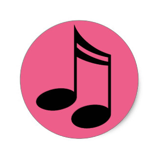 324x324 Pink Music Note Stickers Zazzle