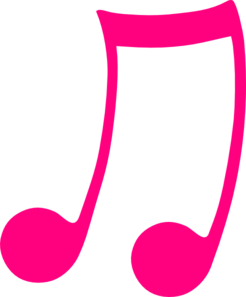 246x297 Pink Musical Note Clip Art