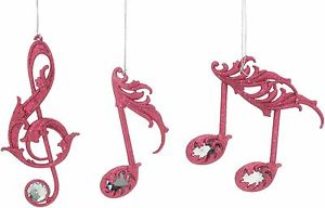 300x192 Set of 3 Pink Music Notes Christmas Tree Decorations NEW 22504 eBay