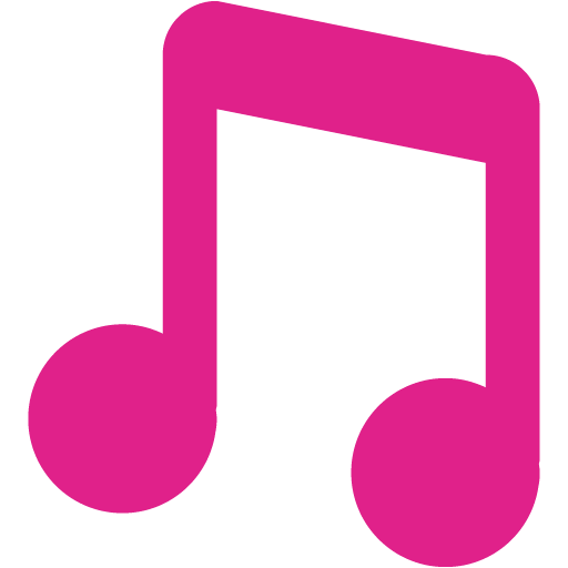 512x512 Barbie pink musical note icon