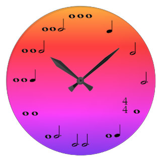 324x324 Pink Musical Notes Clocks Zazzle.ca