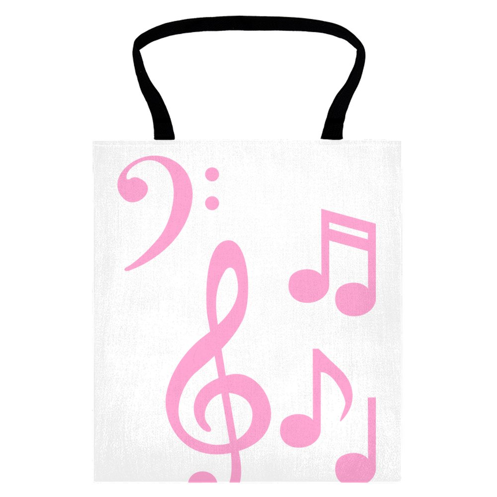 1001x1001 Pink Musical Notes Tote Shopping Bag