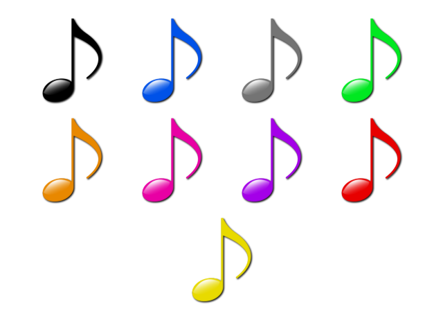 640x462 Glitter Clipart Music Notes