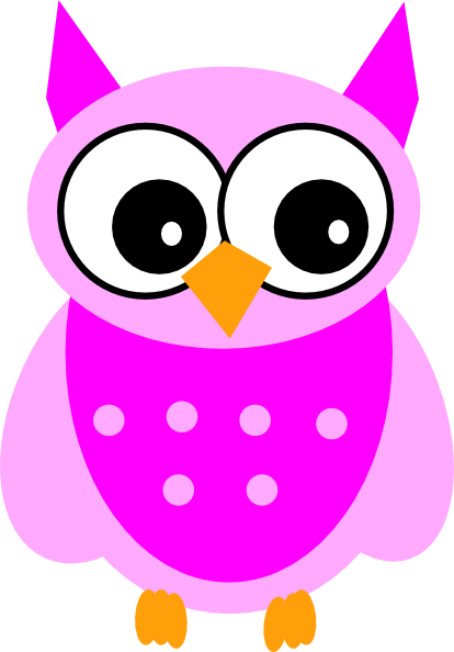 414x594 Cute Pink Owl Clip Art