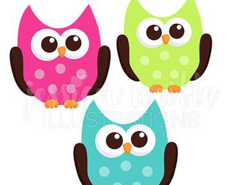 340x270 Kawaii Owls Cute Digital Clipart Cute Owl Clipart Owl Clip