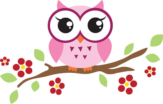 570x365 Owl On Branch Clip Art Many Interesting Cliparts
