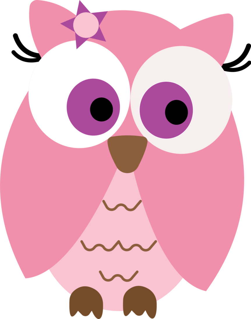 862x1096 Owl Clipart Pink And Brown
