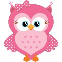 250x250 Owlet Clipart Baby Pink