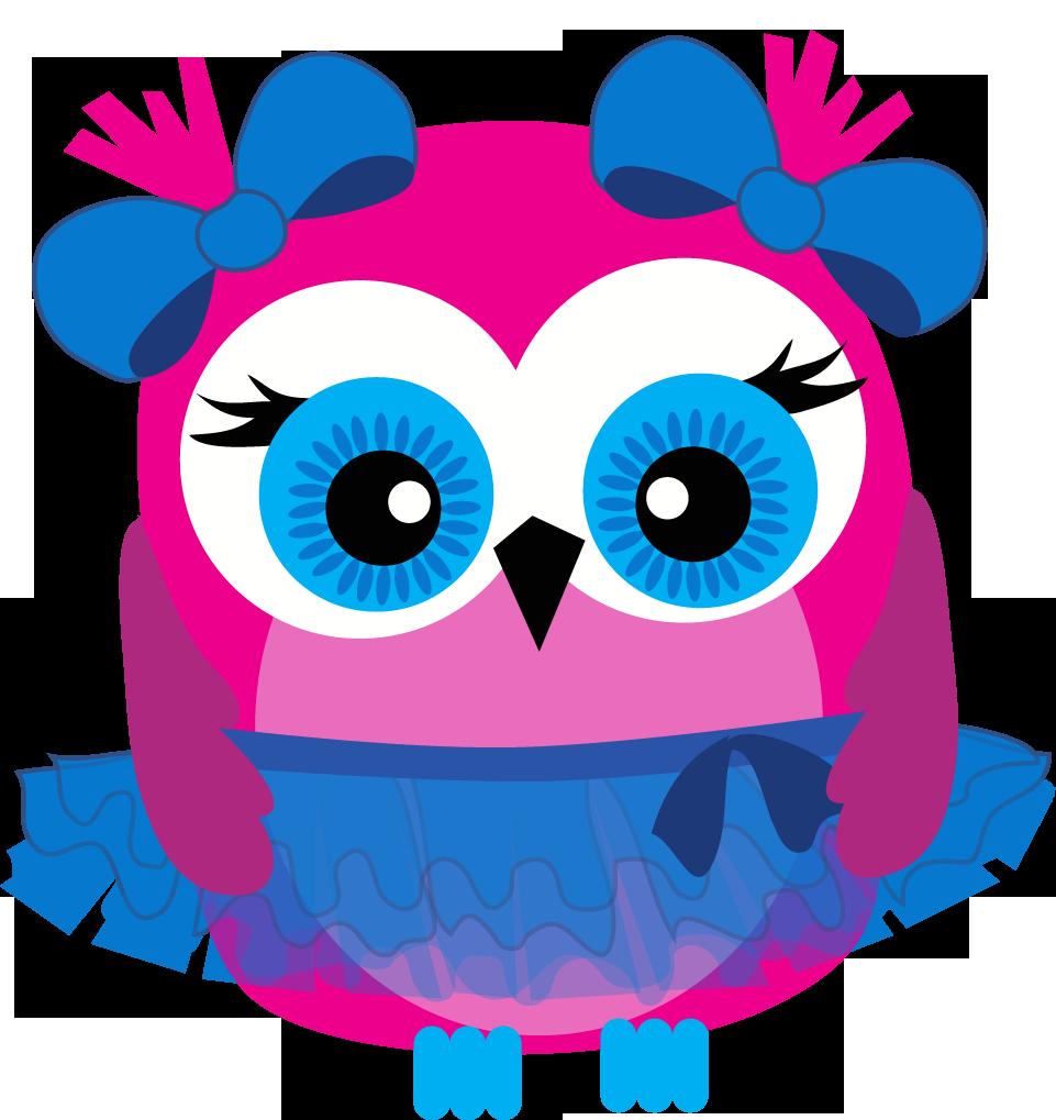 961x1019 Pink Owl Clip Art