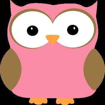 354x355 Pink Owl Clip Art Image Clipart Panda