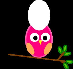 298x282 Pink Owl Clip Art