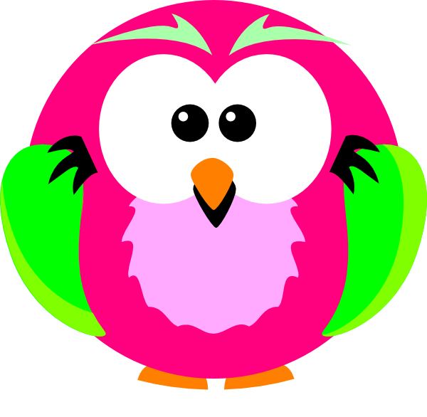 600x586 Pink Owl Clipart 2182015