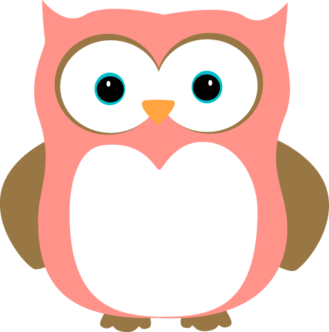 474x479 Pink And Brown Owl Clip Art