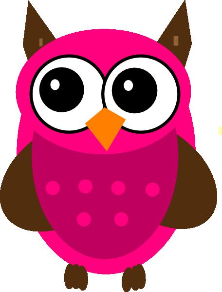456x598 Baby Shower Pink Owl Clip Art
