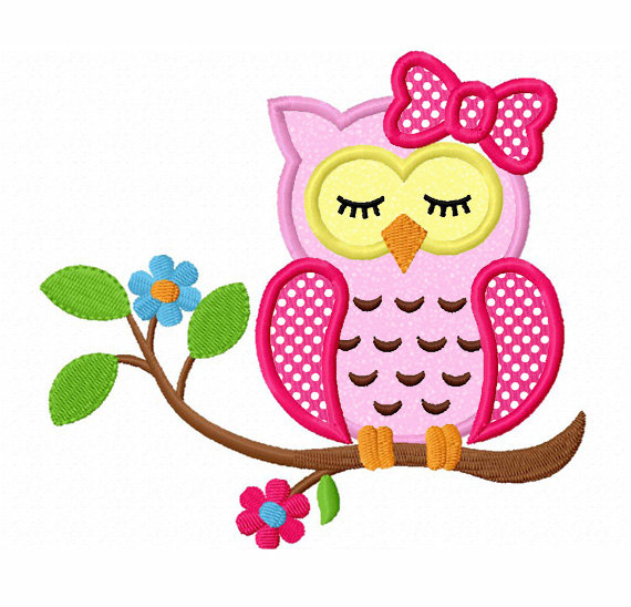 570x548 Branch Clipart Pink Owl