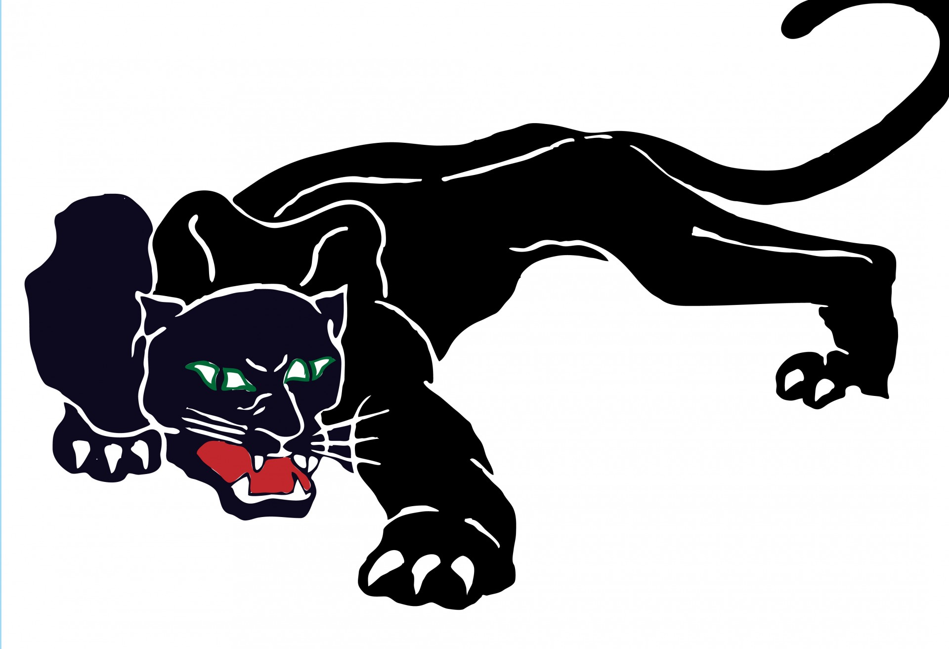 1920x1313 Black Panther Clipart Free Stock Photo