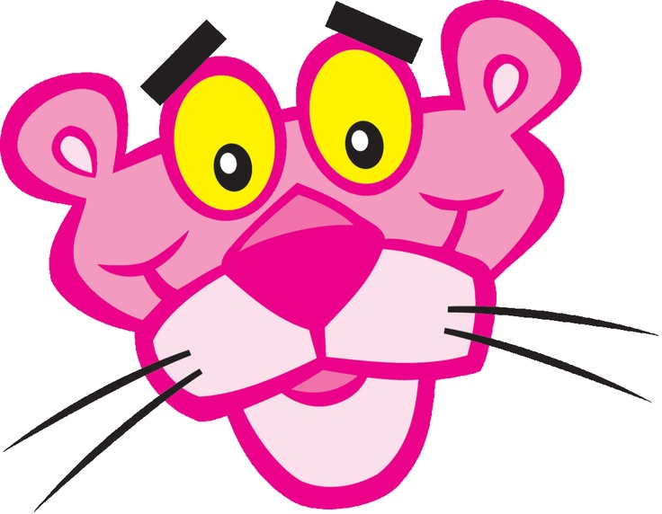 736x572 Panther Clipart Pink Colour