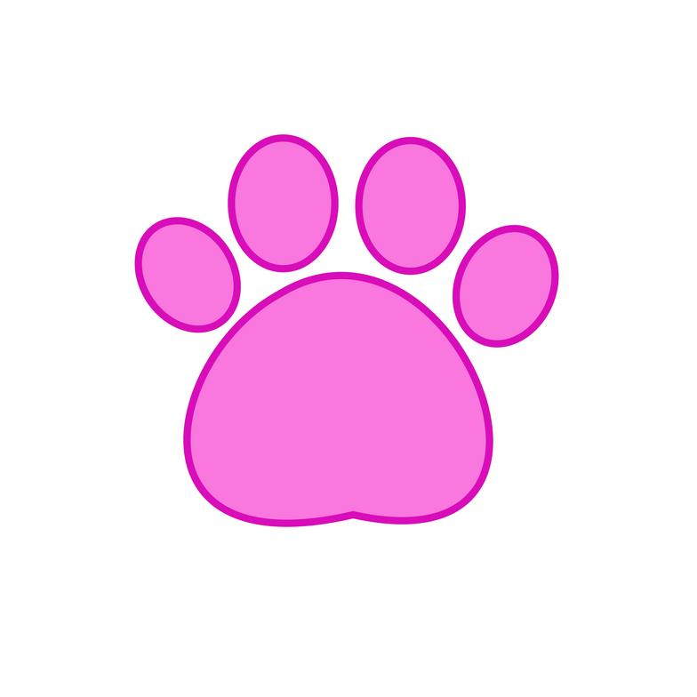 784x784 Paw Clipart Pink