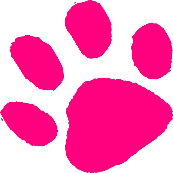 594x597 Pink Paw Print Clip Art