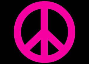 300x214 Peace Sign 70's Window Decal Pink Vinyl Sticker 6x6 Ebay