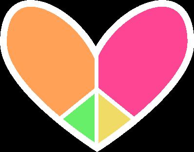 398x313 Peace Sign Heart Square Clip Art