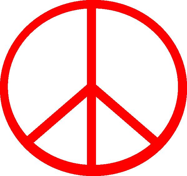 600x566 Red Transparent Peace Clip Art