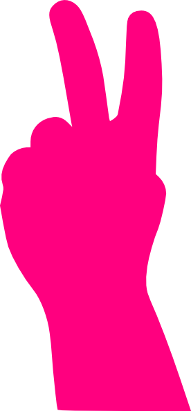 276x594 Drawn Peace Sign Hand Transparent