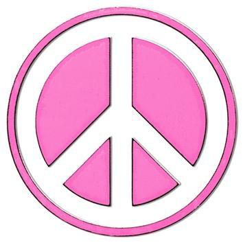 354x354 Inbloom Peace Sign Mini Sticker